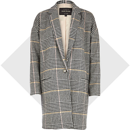 plaid coat, River Island