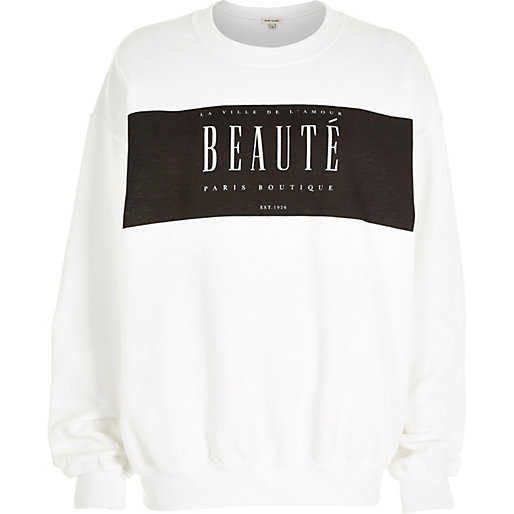 Beaute sweatshirt, River Island