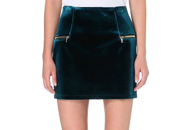 velvet mini skirt Sandro