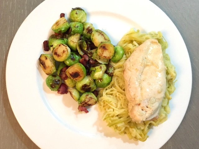 zoodles and lemon pepper chicken