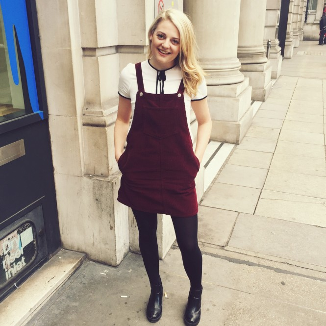 London street style: Topshop pinafore