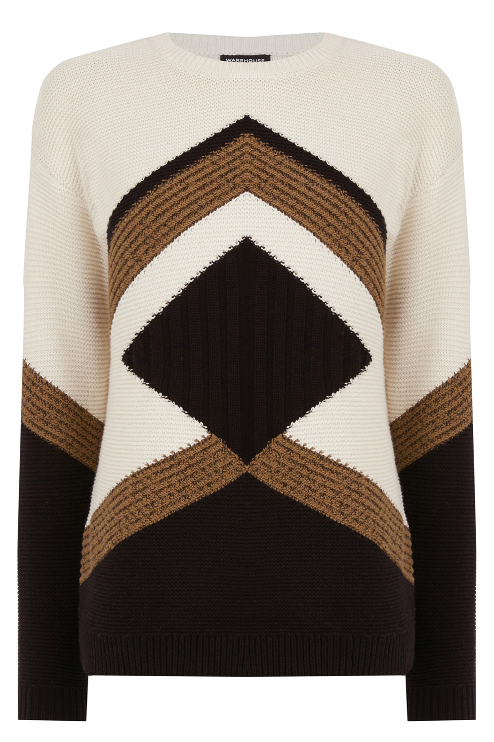 Colour block jumper Warehouse