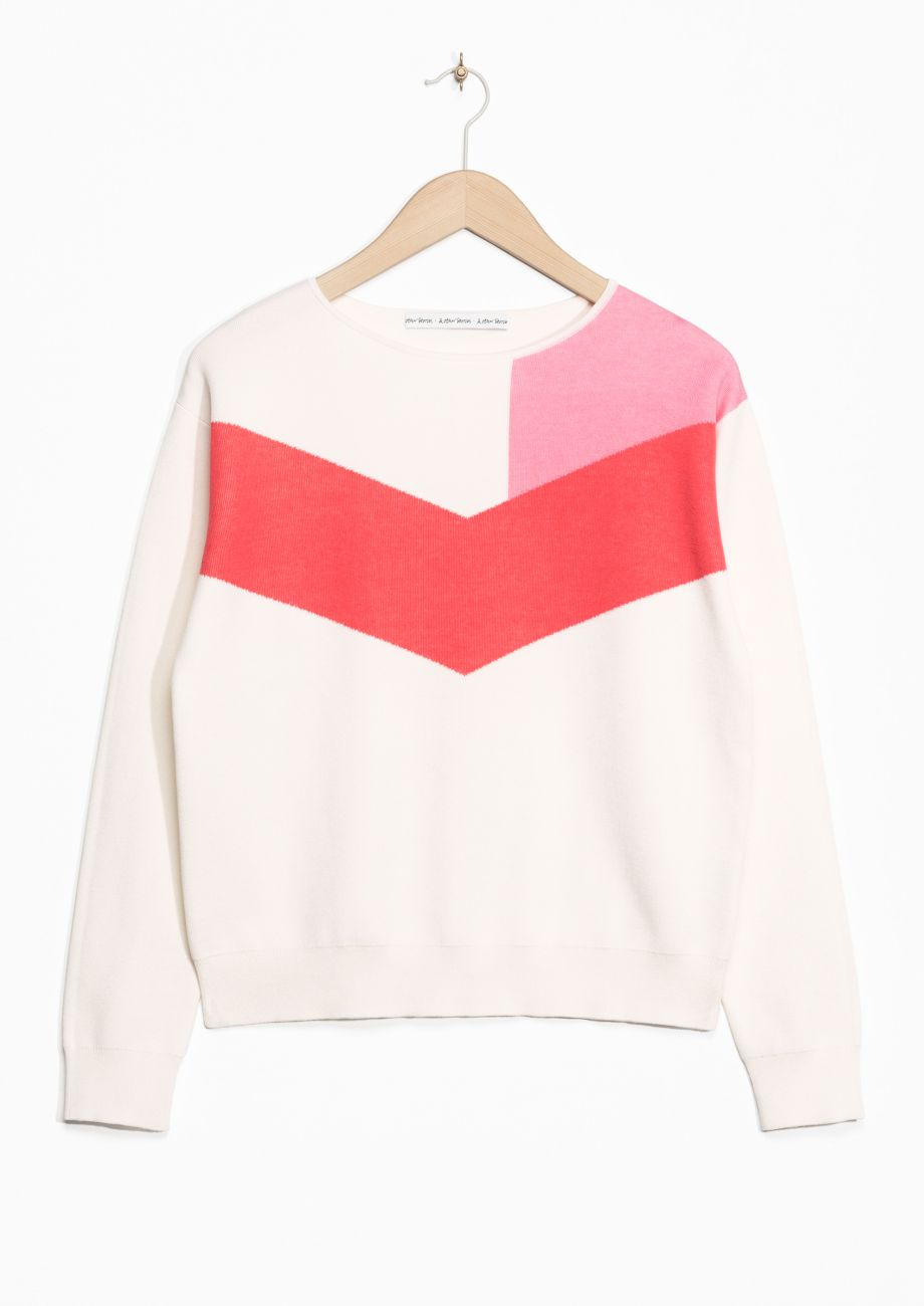 Colour block jumper & Other Stories
